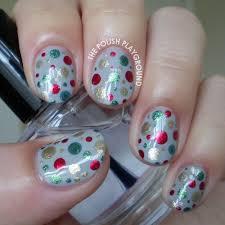 the polish playground festive dotted nail art