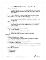 funeral planning checklist funeral planning checklist