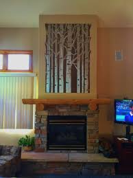 large aspen tree metal wall art for kitchen or above fireplace 4