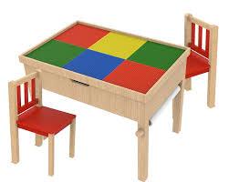 Kids Wood Table And Chair Set O U0027kids Inc Allinfun Premier Kids U0027 3 Piece Rectangle Table And