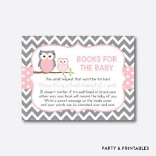 bring a book instead of a card baby shower instant owl books for the baby bring a book instead of