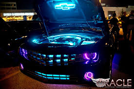 Camaro Fog Lights Chevy Camaro With Purple Modified Headlights And Custom Fog Lights