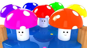 learn colors for children with color mushrooms and wooden hammer