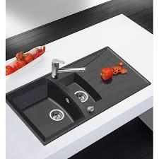 evier cuisine noir 1 bac evier granit evier universo granit noir encastrer 1c 1e achat