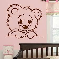 online get cheap giant wall murals aliexpress com alibaba group d322 large nursery baby teddy bear wall mural giant transfer art sticker poster decal for kids room nursery decor