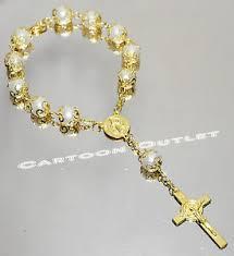 rosary bracelets 12 recuerdos comunion rosary bracelets white gold cross bautizo
