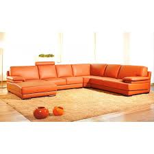 u shaped leather sectional sofa 2227 contemporary orange leather sectional sofa