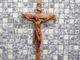 wooden wall crucifix johanna haack custom work www decoysales