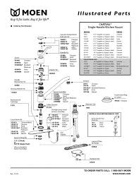 moen kitchen faucet manual moen kitchen faucets parts diagram