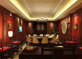 Modern Chinese Restaurant Interior Design With Red Impression For - Modern chinese interior design
