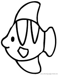 simple fish coloring pages getcoloringpages
