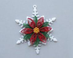 this beautiful paper quilled silver tree ornament for