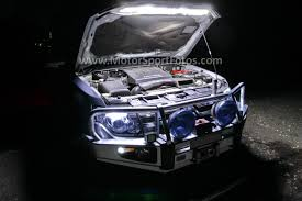 Led Strip Lights Automotive by Under Bonnet Led Light Instal Auto On Off Pajero 4wd Club Of