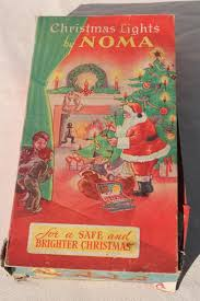 Light String Christmas Tree by Vintage Noma Christmas Tree Lights Light String W Bulbs In