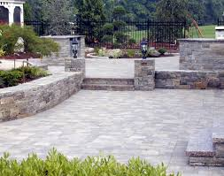 Backyard Concrete Ideas Patio U0026 Pergola Awesome Cement Patio Pavers Backyard Concrete