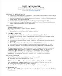 Teacher Resume Examples 2013 by Preschool Teacher Resume Teacher Resume Template 2017