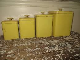 Vintage Kitchen Canister Sets 28 Yellow Canister Sets Kitchen Retro Yellow Kitchen
