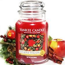 yankee candle housewarmer jar apple wreath