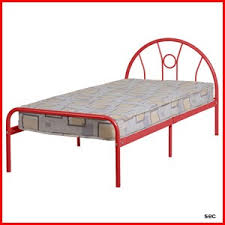 scorpio 3 u0027 red metal single bed with arched headboard