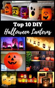 Halloween Decorations Using Milk Jugs - best 25 halloween lanterns ideas on pinterest diy halloween