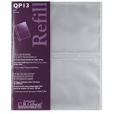 scrapbook refill pages qp13 pocket page refills for qp13 deluxe kitchen binder