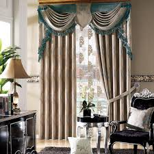 Curtains Set 2018 New European Style Customized Poly Jacquard Bedroom Window