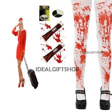 zombie air hostess halloween fancy dress costume ladies bloody