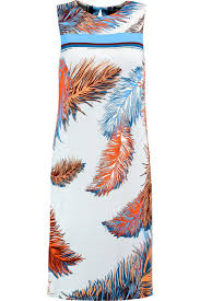 dress milly women clothes off the shoulder silk blend dress