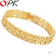 gold jewelry bracelet designs images Opk jewelry 18k yellow gold plated leisure bracelet for men women jpg