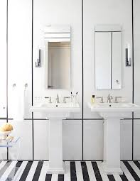 Black White Bathroom Tile Built For Two Inspiration For Bathrooms With Double Sinks Black