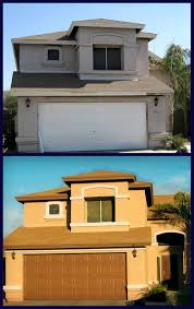Spanish Style Homes Exterior Paint Colors Before And After Painting Wood Exterior San Diego Exterior