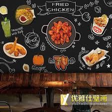 cuisine à la bière personnalisé 3d murale caricature dessinée coréenne cuisine