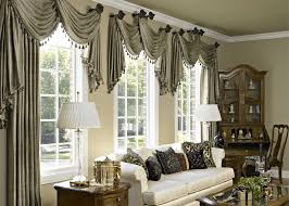 living room window treatments modern home design interior