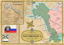 Alaska And Russia Map by The Russian Imperial Dominion Of Novorossiya By Martin23230 On