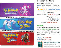 amazon canada deals of the day 54 on pokemon 1 3 movie