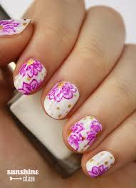 fun flower nail art sunshine citizen