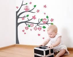 klebefieber kinderzimmer wandtattoo eulenbaum wandtattoos kinderzimmer babywelt