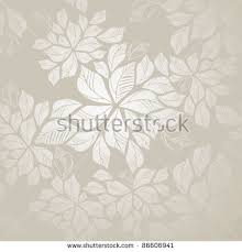 beautiful seamless silver leaves wallpaper this stock vector