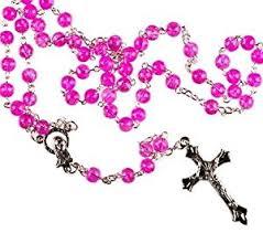 catholic rosary pink rosary rosary bead prayer bead metal crucifix catholic