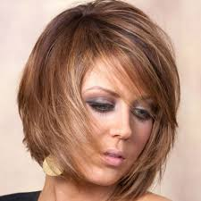 short brown hairstyles with blonde highlights burgundy hair colors