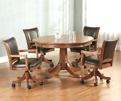kitchen table with caster chairs dining table on casters ecda2015 com
