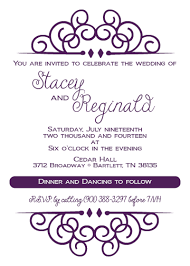 purple ornament invitation dixons printing