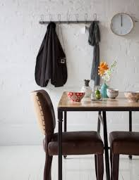 Leather And Metal Rustic Dining Chairs Modern Dining Room Furniture Glass Top Dining Table Black Leather
