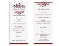 wedding programs sle sle wedding program templates 28 images sale diy printable