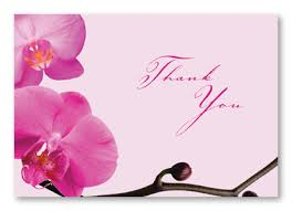beautiful pink orchid thank you cards stationery thank you cards 6487
