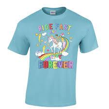 Mens Halloween Shirts by Skeleton Riding A Unicorn Down A Rainbow Biker T Shirt Mens T