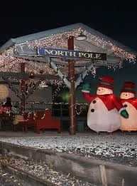 christmas lights train ride north pole limited christmas train tennessee valley railroad