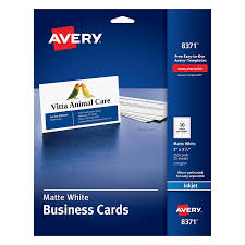 amazon com avery business cards for inkjet printers matte white
