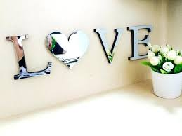 home decor love letter home decor wedding love letters home decoration mirror wall