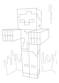 astonishing minecraft zombie coloring pages with minecraft